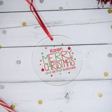Merry Christmas Acrylic Decoration